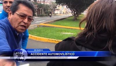 Accidente automovilístico en Santiago de Surco