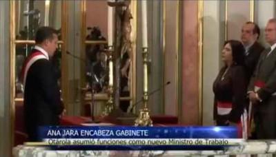 Juramentación de Ana Jara como presidenta del Consejo de Ministros