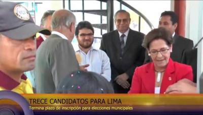 Susana Villarán inscribió su candidatura para las Elecciones Municipales 2014