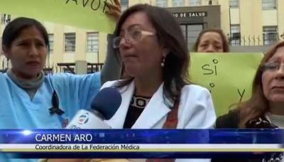 Médicos protestan en rechazo al protocolo de aborto terapéutico