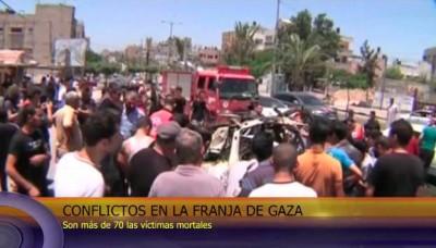 Conflicto en la Franja de Gaza causa más de 70 muertos