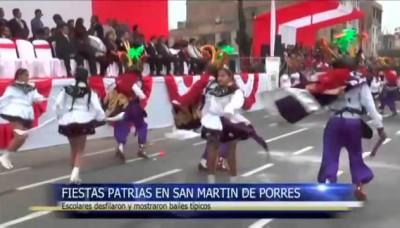 Fiestas Patrias 2014: Así fue el desfile escolar en San Martin de Porres