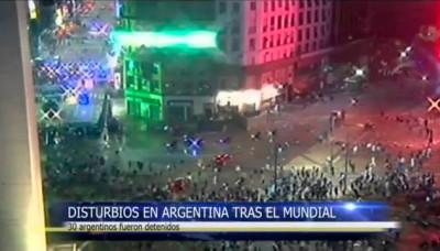 Mundial Brasil 2014: Disturbios en Argentina tras su derrota en la final