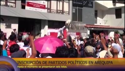 Inscripción de partidos políticos en Arequipa, para las Elecciones Regionales 2014