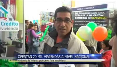 Feria Expomivivienda: Ofertan 20 mil viviendas a nivel nacional
