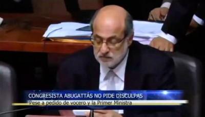 Daniel Abugattás no pide disculpas pese a pedido de vocero y la Primer Ministra