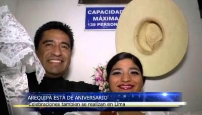 Arequipeños celebran en Lima el 474 aniversario de la Ciudad Blanca