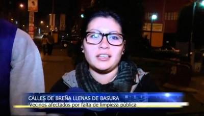 Vecinos de Breña afectados por falta de limpieza pública