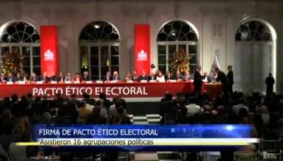 16 agrupaciones políticas asistieron a la firma de Pacto Ético Electoral