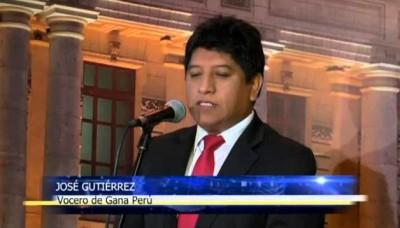 Congresista nacionalista Josué Gutiérrez pide que Daniel Abugattás se disculpe por sus expresiones