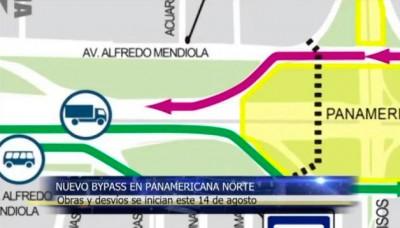 Obras para el nuevo bypass de la Panamericana Norte se inician este 14 de agosto