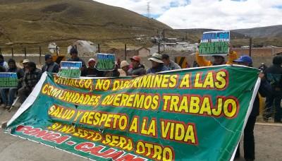 La Oroya: comuneros de Pachachaca protestan contra minera Chinalco