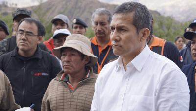 Sismo en Cusco: Humala visita Paruro junto a sus ministros