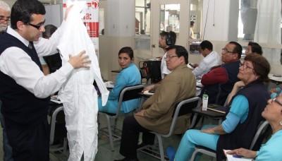 Minsa realiza taller sobre medidas de bioseguridad frente al virus del Ébola