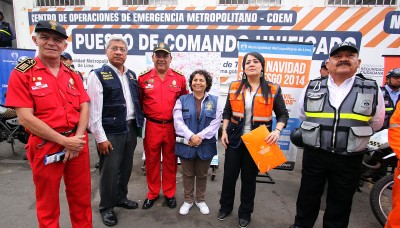 Municipalidad de Lima lanzó plan de seguridad 'Navidad sin Riesgo 2014'