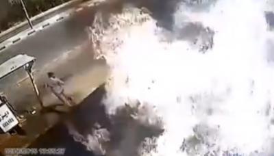 Video: Vean esta impresionante explosión de una gasolinera provocada por un cliente