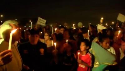 Villa El Salvador: Se realizó una vigilia contra el crimen