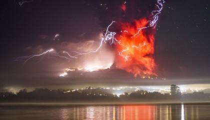 Impresionantes imágenes de la erupción del volcán Calbuco