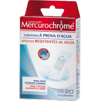 Mercurochrome Curativos a prova d'agua - 20 unidades