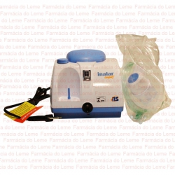 Inalar Compact / Nebulizador a Ar Comprimido - Contém 1 Inalador com Traquéia e Mascaras Adulto e Infantil. NS