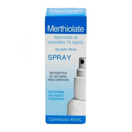 Merthiolate Spray - Contém 45ml. Mantecorp