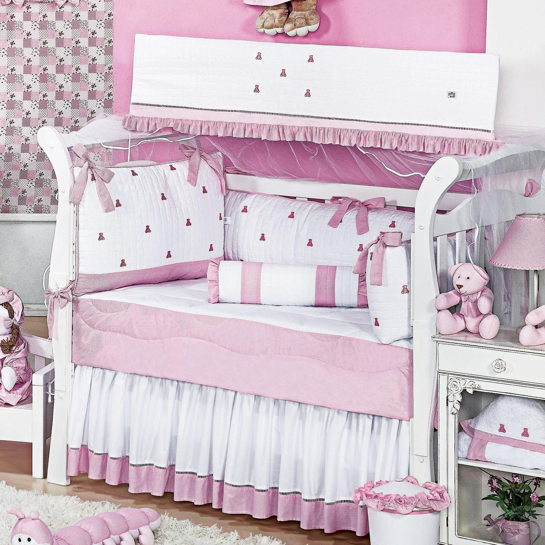 Enxoval De Beb Feminino Rosa Com Ursinhos Blog Gr O De Gente ~ Decoração Quarto De Bebe Urso E Tema Quarto Bebe Feminino