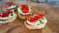 Receita de Bruschetta de Ricota e Tomate Cereja