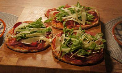 Receita de Pizza de Presunto Parma