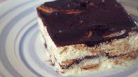 Receita de Pavê de Chocolate e Creme de Baunilha