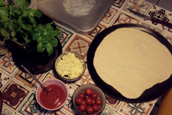 Ingredientes Pizza Mraguerita