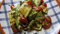 Receita de Salada de Abobrinha Grelhada com Hortelã e Manjericão