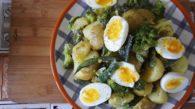 Receita de Salada de Batata Bolinha, Vagem e Brócolis