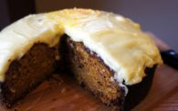 Receita de bolo de Moranga e Laranja com Cobertura de Cream Cheese