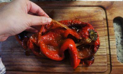 Como pelar pimentão
