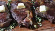 Receita de Chuleta Grelhada com Manteiga, Alho e Ervas