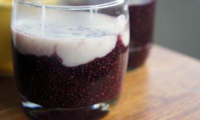 Receita de Sagu de Chia com Creme de Fécula de Batata e Baunilha