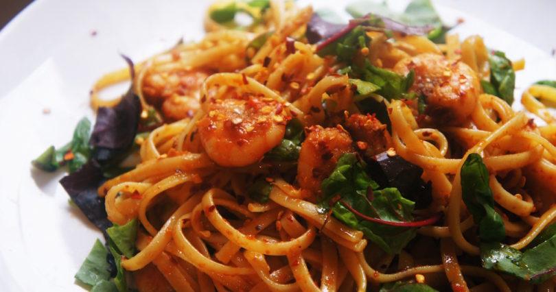 Receita de Linguini ao Molho de Tomate seco com Camarão