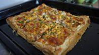 """Receita de """"Pizza"""" de Massa Folhada"""