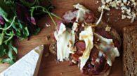 Sanduíche de Bacon e Brie