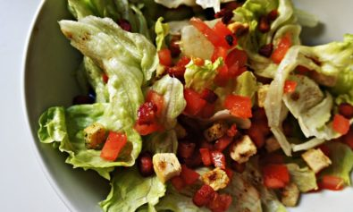 Salada Crocante com Bacon