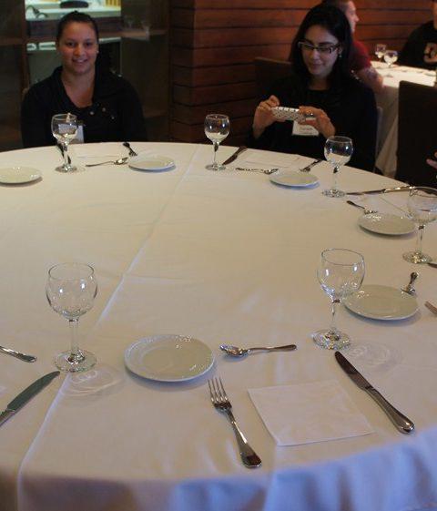 Mesa posta para almoço ICIF