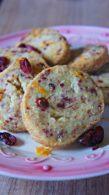 Receita de Biscoito Amanteigado de Cranberry e Laranja