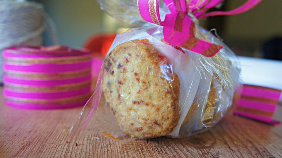 Receita de Biscoito Amantegado de Cranberry e Laranja