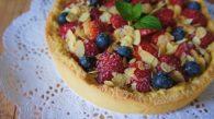 Receita de Torta de Frutas Vermelhas com Creme de Baunilha e Patê Sucrée