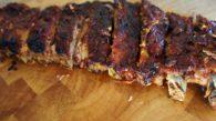 Receita de Costela de Porco Assada com Molho Barbecue de Goiaba