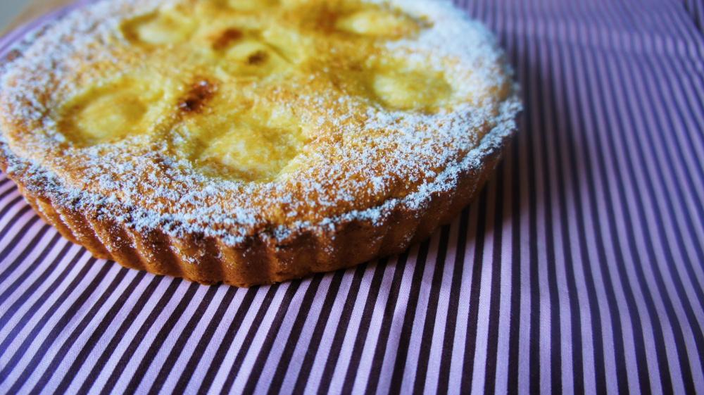 Receita de Torta de Pêssego com Frangipane