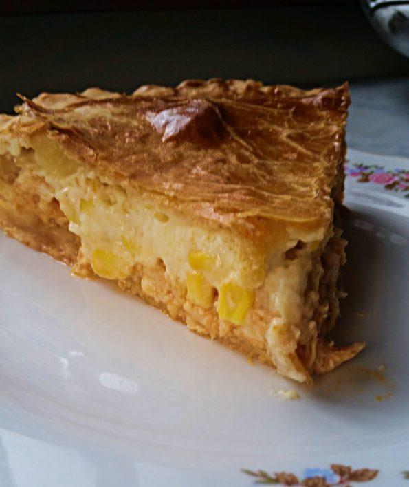 Receita de Torta de Frango e Creme de Milho