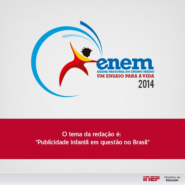 Tema da redação do ENEM 2014