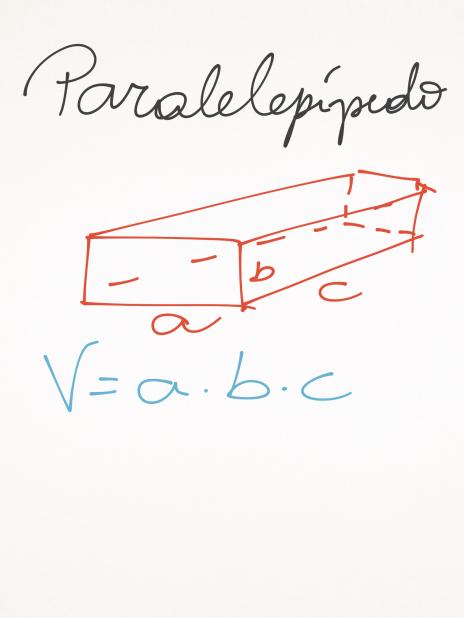fórmulas de volume