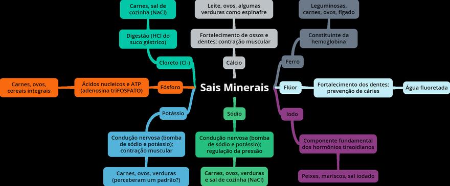 Mapa Mental: Sais Minerais